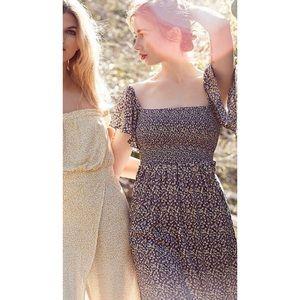 Free People Black Floral Maxi Dress XS